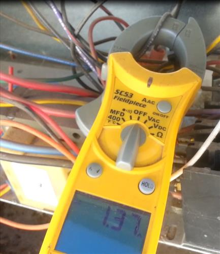 Measure the amps on a blower motor or condensing fan motor hvac icp blower motor amp draw test sciox Gallery