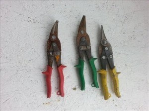 heating and cooling HVAC tool list tin-snips