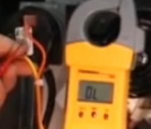multimeter testing pressure switch