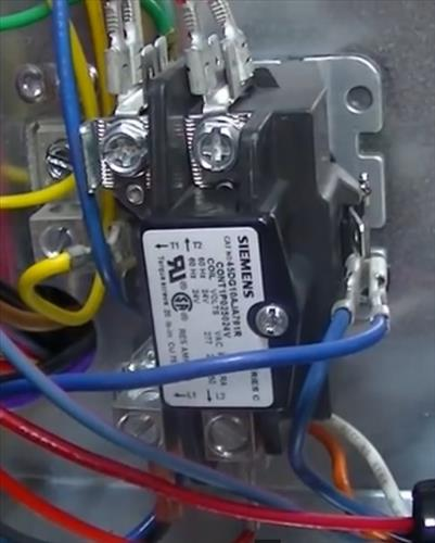 replacing a relay contactor on a heat pump hvac how to contactor relay hvac