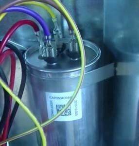 dual round start run capacitor