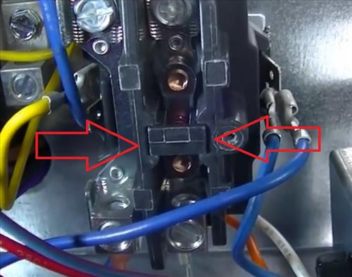 inside a hvac contactor relay