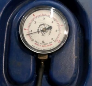 How to measure water column gas pressure