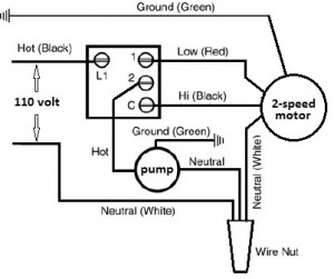 Basic Evaporator Switch wiring schematic.