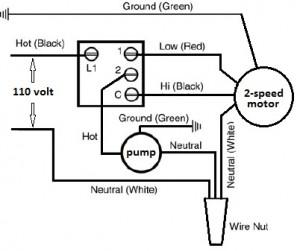 Basic Evaporator Switch wiring schematic.