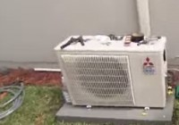 DIY Heat Pump Ductless Mini Spit outside condensor unit placement