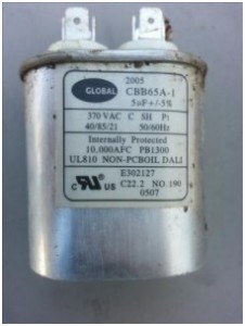 Gas Furnace Blower Motor Capacitor Example