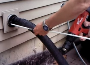 Dryer vent cleaning attaching more line