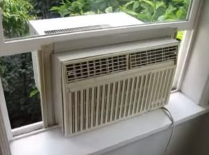 How To Support a Window Air Conditioner Top Bar