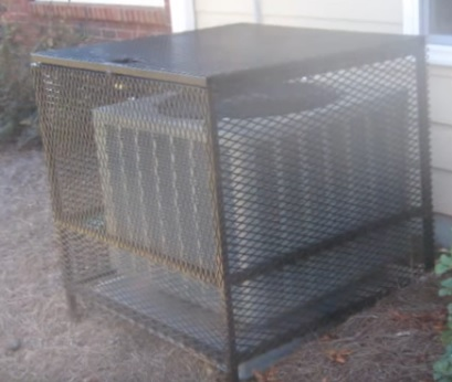 How To Secure An Air Conditioner With A Security Cage Kit