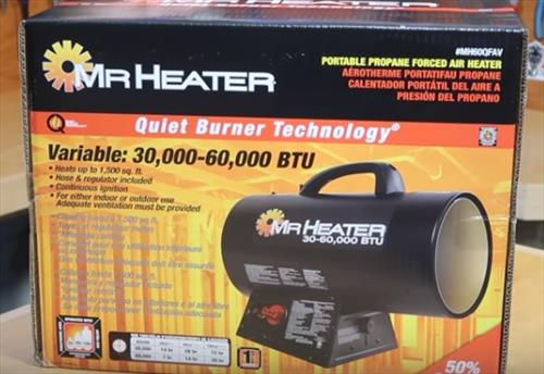 Review Mr Heater MH60QFAV 60,000 BTU Portable Propane Heater