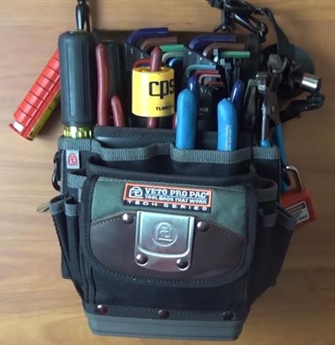 Best HVAC Tool Bags VETO TP4B Open