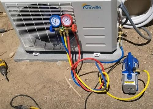 How To Install Senville 9000 BTU 230 Volts Ductless Mini Split Vaccum 2