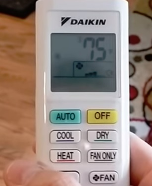 Review Daikin Mini Split Heat Pump Remote