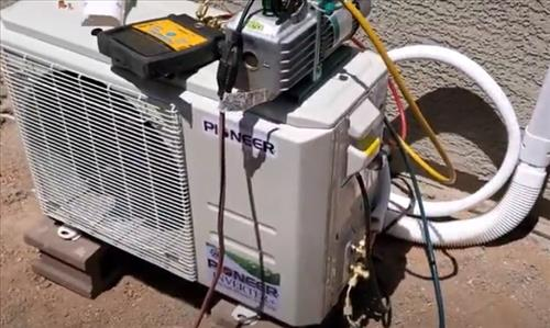 Mini Split with Low Charge Bad Flare on Line Set Refrigerant Leak