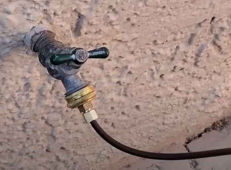 How to Hookup or Repair a Swamp Cooler Water Line Hose bib 2